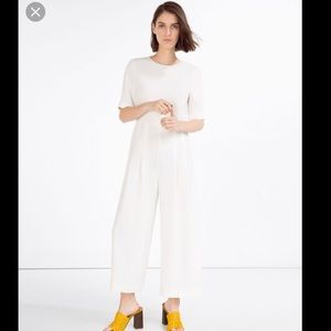 Zara white Jumpsuit with waist seam